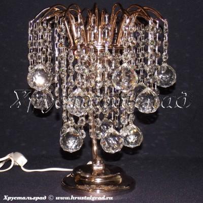 Хрустальная настольная лампа Зима Шар 40