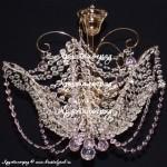 Люстра Орхидея Шар розовый
