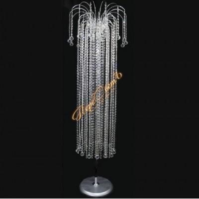 Хрустальный торшер Каскад высокий Шар 30