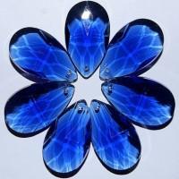 Хрустальная подвеска Журавлик синий