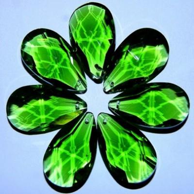 Хрустальная подвеска Журавлик зеленый