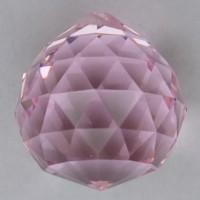 Хрустальная подвеска Шар розовый
