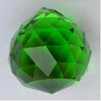 Хрустальная подвеска Шар зеленый